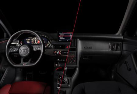 AudiS4, Audi80, Querschnitt, Vergleich, Cockpit, Larsen
