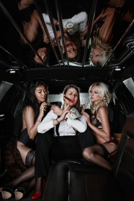 Limousine, Band, Models, Fotoshooting, shooting, shoot, car